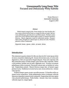 Create beautiful documents with latex templates latex templates thin sectioned essay latex template maxwellsz