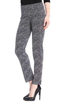 SlimSation Womens Print Ankle Pant Black 8 ** Find out more about the great product at the image link.