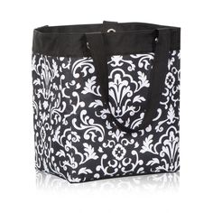 Essential Storage Tote in Black Parisian Pop for $28 - Head out to the playground or take a day trip with all your essentials in this roomy storage tote. Don't worry about leaving anything at home - webbed handles and sturdy construction means it can carry all your necessities! Via @thirtyonegifts