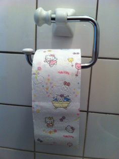 Hello Kitty Toilet Paper to go in the HK bathroom...I would never be able to use it!