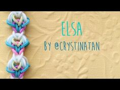 Rainbow Loom Bands Elsa Bracelet by @CrystinaTan - YouTube