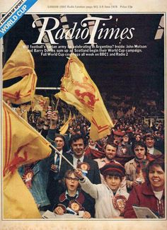 The Radio Times cover prior to the 1978 World Cup Finals