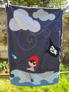 Plaid pirate, patron Créenfantin Les AigUilleS MagiK