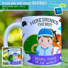 DESIGN SUBLIMATION HERE DRINKS BASEBALL PLAYER