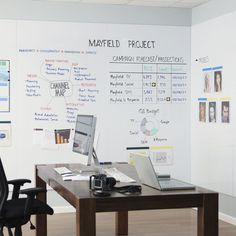 Image result for whiteboard wall office