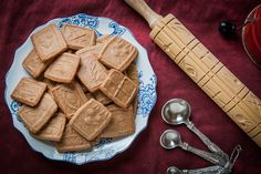 Speculaas or speculoos cookies, sometimes called Biscoff of Dutch Windmill Cookies by Irvin Lin of Eat the Love