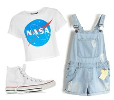 """nasa"" by avril-05 ❤ liked on Polyvore featuring Converse"