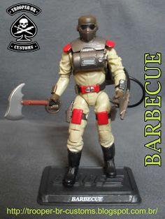 Gi joe Custom Action Figures: Barbecue - Gi Joe Fire Fighter