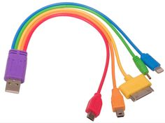 Universal USB Rainbow Charger such a good idea/ especially when you have guests