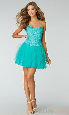 Glisten to This Strapless Teal Sequin Dress | Formal dresses ...