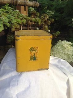 Altered Vintage Lipton's Tea Tin Metal Box Container by FlyingFigs, $8.50