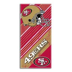 Northwest Co. NFL 49ers Diagonal Beach Towel