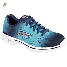 Skechers Womens/Ladies Go Walk 3 Pulse Trainers/Sneakers (7 US) (Navy/Aqua) - Skechers sneakers for women (*Amazon Partner-Link)