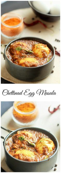 Spicy Chettinad Egg Masala Curry, How to make chettinad egg masala. Learn how to make the simple and tasty egg masala in an easy to understand instructions. Paneer Recipes, Veg Recipes, Side Dish Recipes, Indian Food Recipes, Asian Recipes, Vegetarian Recipes, Cooking Recipes, Recipies, Kerala Recipes