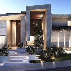 I The Best Interior & Exterior Design Experiences For YOU. Modern Architecture House, Modern House Design, Amazing Architecture, Architecture Design, Modern Houses, Facade Design, Exterior Design, Style At Home, Modern Exterior