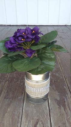 Tin Can Centerpiece by ArtOfAlice on Etsy