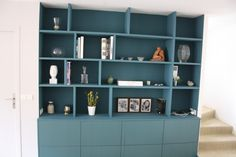 Home Office Storage Cabinets Bookcases Ideas Diy Cabinets, Storage Cabinets, Wooden Bookcase, Muebles Living, Living Comedor, Home Office Storage, Living Room Seating, Trendy Home, Living Room Inspiration