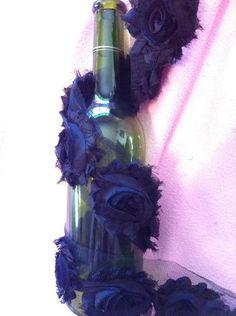 Jade's BLACK  2 1/2 inch Rose Trim / 15 by KARLAS001 on Etsy, $3.75