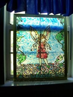DIY Stained Glass I made which can also be created on wax paper and then peeled up and placed on a window :) See my website for steps