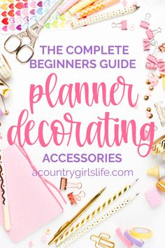 Are you a total beginner when it comes to DIY planner decorating? Let us show you the BEST products and accessories to get organized in style like cute pens, paper clips, planner accessory storage, sticker paper and technology to may DIY projects a snap! Printable Planner Pages, Free Planner, Printables, Free Printable, Agenda Planner, Passion Planner, Planner Template, Happy Planner Accessories, Planner Stickers