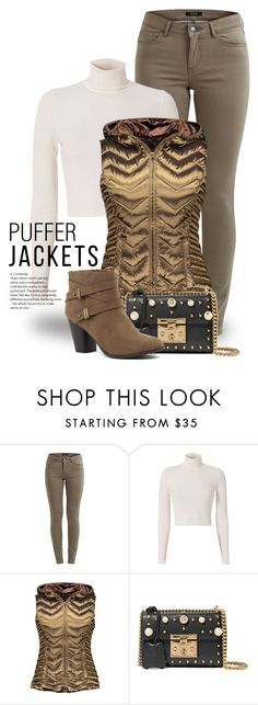 """""""Perfect Puffer Jackets 2822"""" by boxthoughts ❤ liked on Polyvore featuring A.L.C., Blanc Noir, Gucci and puffers"""