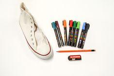 Passo a Passo – Tênis customizado com canetas POSCA | Rio Artes Manuais