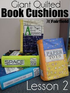 Giant Quilted Book Cushion Tutorial - Lesson 2 of 2