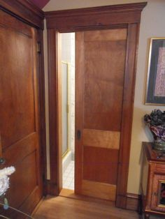pocket doors | ... pocket doors to match an old houses's finish....lovely...
