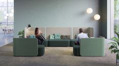 PodLounge, a hybrid solution that challenges the concept of a seat: a beautiful sofa, screen or actually a room? The fact is, it can be all three at the same time! Designed by Design Studio. Sofa Chair, Couch, Space Dividers, Beautiful Sofas, Contract Furniture, Studio, Room, Design, Home Decor