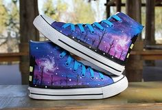 Discover recipes, home ideas, style inspiration and other ideas to try. Galaxy Converse, Galaxy Shoes, Style Converse, Converse Shoes, Custom Converse, Style Grunge, Soft Grunge, Sneakers Fashion, Fashion Shoes