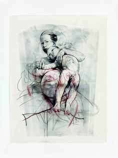 Study for Pentimenti III (sinopia), by Jenny Saville