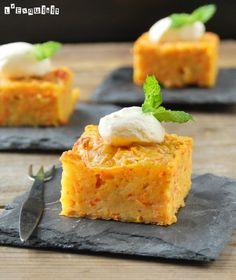 Tarta {salada} de zanahorias y queso