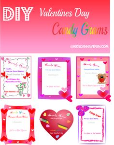 I used these as cards to send with my candy grams for the students