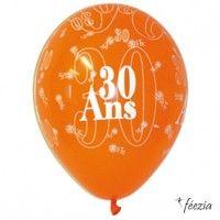 Ballon Anniversaire Jubilé 30 ans par 8