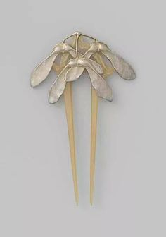 """..""""maple seeds comb..silver and horn""""..circa1902...lucien galliard...french jewelry designer..maker....paris..france...1861-1933..."""