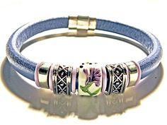 Leather Bracelet, Regaliz Greek licorice leather,PICK YOUR SIZE