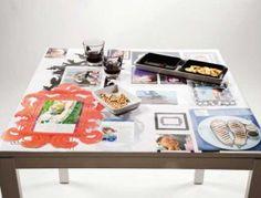 Self-adhesive tablecloth