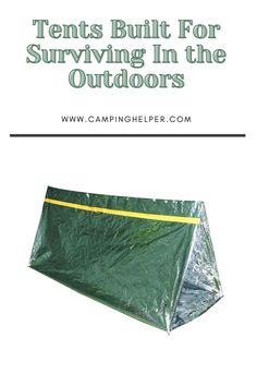 My top option on this list uses polyester as the outside material so it is the only kind of survival tent that you will be able to pack away and continue to use whenever you need it.  #camping#tents#tentcamping