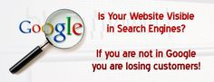 Is your Website visible in Search Engines? If you are not found in Google you are losing Customers! Click here for more details! http://www.frozenseo.com
