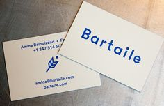 Bartaile Letterpress Business Cards | Workhorse Printmakers | Houston