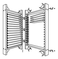 "Dimensions - Flexfence 2 panel louvered screen (each panel measures 78""x26"")"