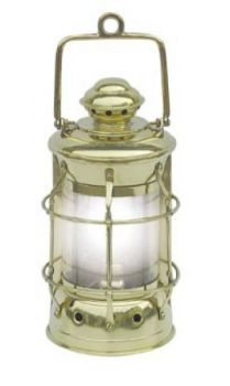 Nelson-Lampe Messing, elektrisch 230V, H: 28cm, Ø: 13cm