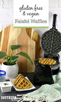Gluten Free & Vegan Falafel Waffles Recipe Gluten Free Waffles, Vegan Gluten Free, Vegan Egg, Waffle Recipes, Vegan Recipes, Falafel Waffle, Savory Waffles, Recipe Generator, Vegane Rezepte