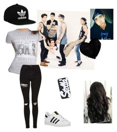 """""""Janoskians ✌️"""" by so4n ❤ liked on Polyvore featuring Topshop, adidas Originals, STELLA McCARTNEY and Brooks"""