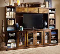 Printer's Large Media Suite with Hutch | Pottery Barn