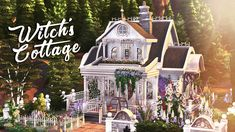 Open Floor Concept, Sims 4 House Design, Witch Cottage, Sims 4 Characters, Sims 4 Mm, Sims 4 Build, Sims 4 Houses, Building A House, Building Ideas