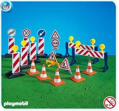 $13.99 Playmobil Construction Site Signs  From PLAYMOBIL®   Get it here: http://astore.amazon.com/toys4kids09-20/detail/B0002HY2WS/187-2419870-8051728