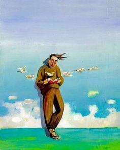 Vuelan las ideas, en libertad, entre las páginas de los libros (ilustración de Cristina Bernazzani)