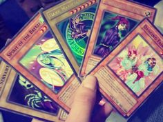 I used to play with Yu-Gi-Oh cards with my brother. Good times.