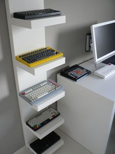 CeeSA's Lack Shelf Keyboard Display